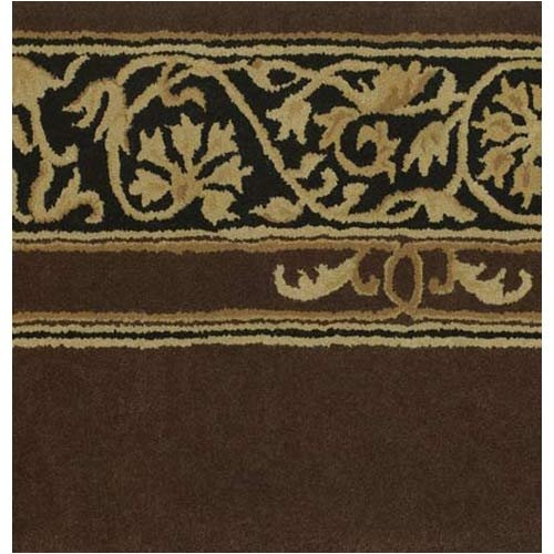 Astoria Grand Chesney Hand-Tufted Wool Brown/Black Area Rug