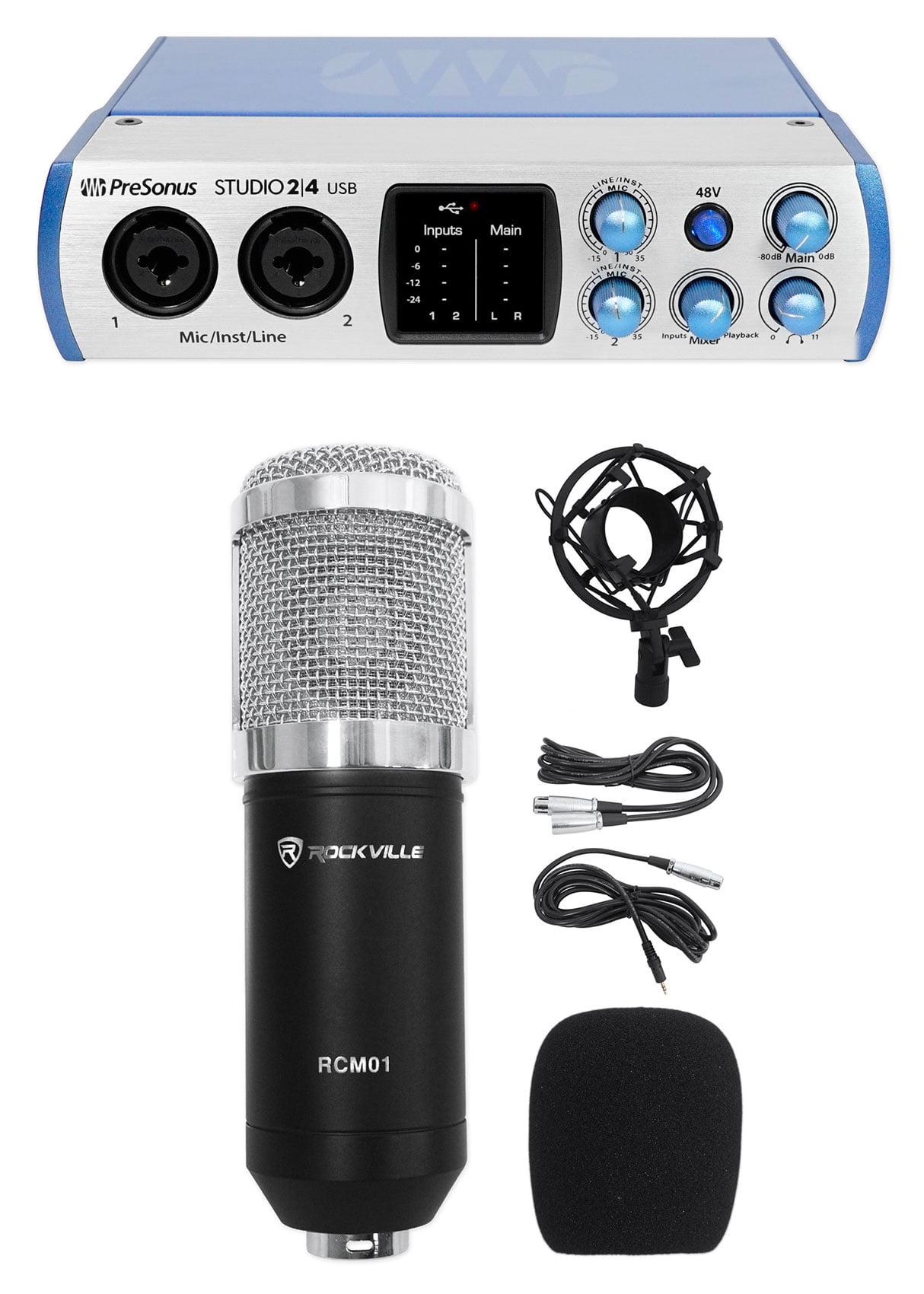 PRESONUS Studio 24 2x2 USB 2 0 Audio Recording Interface+Condensder  Microphone