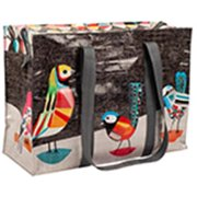 Zipper Shoulder Totes Pretty Bird 11 x 15 x 3 95% Post Consumer Recycled Material