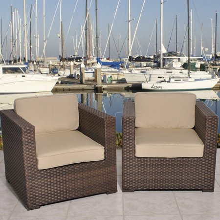Bellagio 2-Piece Wicker Patio Set with SUNBRELLA Cushions