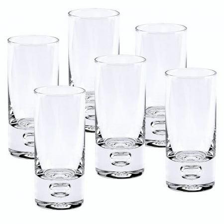 Badash Galaxy Mouth Blown Crystal Shot Glasses - 2.5 oz - Set of 6