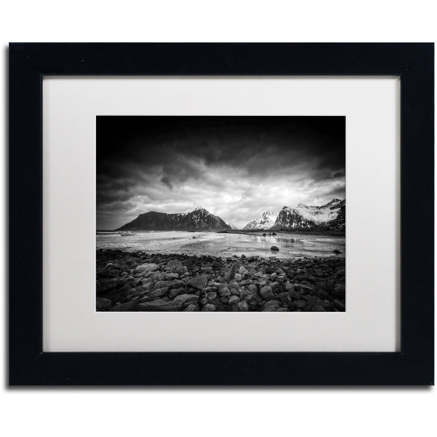 "Trademark Fine Art ""End of the Day"" Canvas Art by Philippe Sainte-Laudy, White Matte, Black Frame"