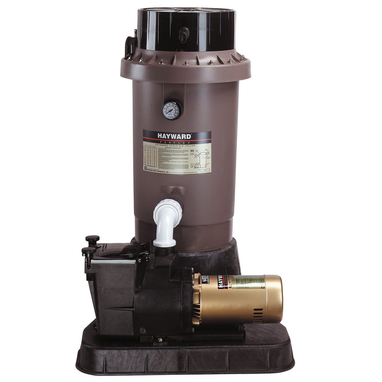 Hayward Perflex EC75 In-Ground Extended Cycle D.E. Filters & System w/1-HP Pump