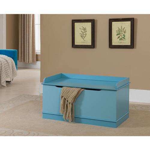 K and B Furniture Co Inc K & B Blue Wooden Toy Chest by Overstock