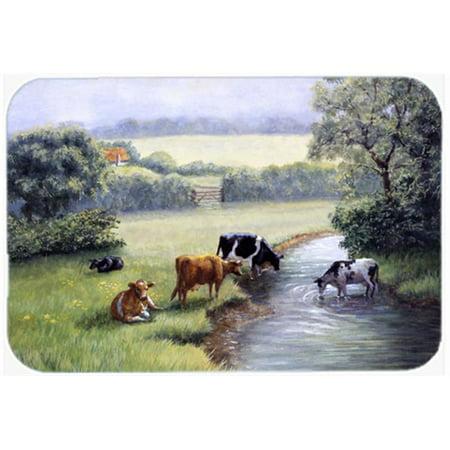Carolines Treasures BDBA0350JCMT Cows Drinking at the Creek Bank Kitchen or Bath Mat, 24 x 36 - image 1 of 1