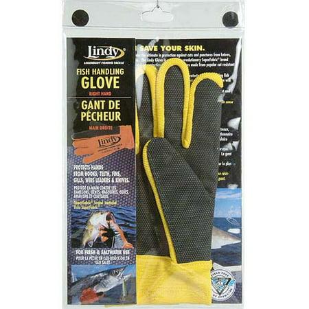 Lindy fish handling glove for Fishing gloves walmart