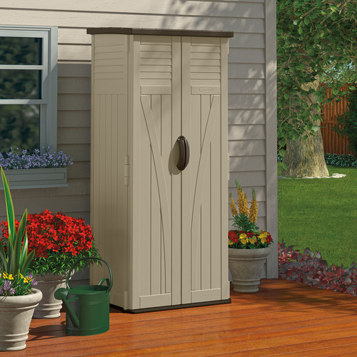 Suncast 2 ft. 5 in. W x 2 ft. 2 in. D Plastic Vertical Tool Shed