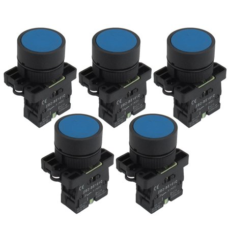 ZB2-BE101C NO Normally Open Ignition Momentary Push Button Switch 5 Pcs