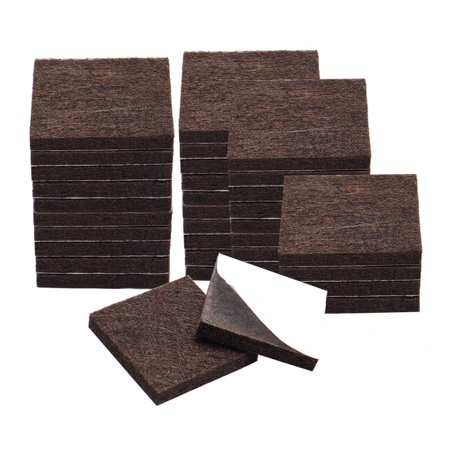 """Felt Pad Square 7/8"""" Self Sticky for Floor Protector Table Leg Brown, 36pcs - image 1 of 7"""