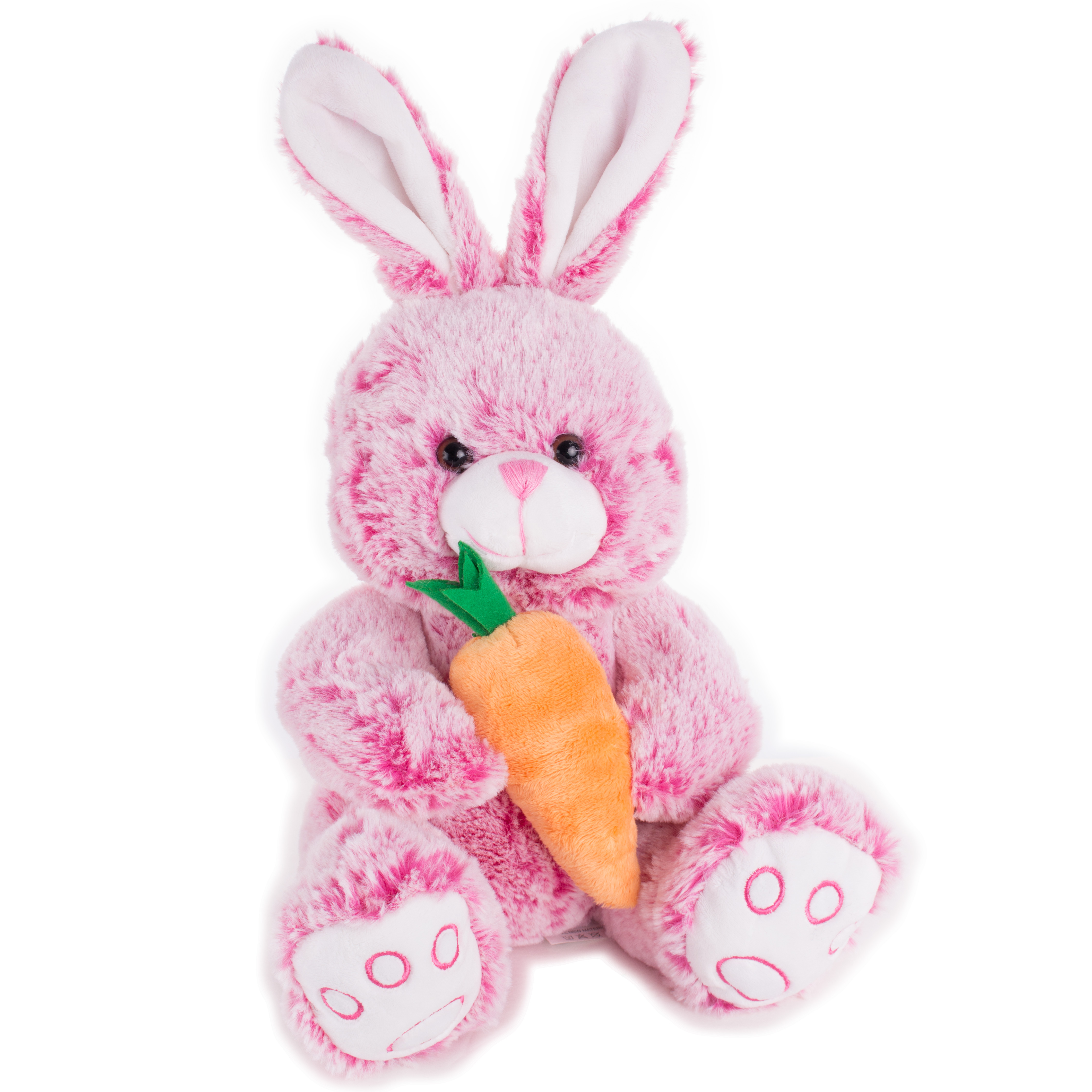 Veil Entertainment Soft Stuffed Rabbit With Carrot Easter Bunny 14