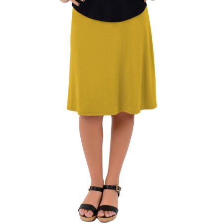 Knee Length A-Line Flowy Skirt | Comfortable Clothes for Women and Girls | Child Small - Adult