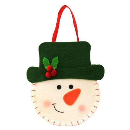 3D Christmas Felt Cloth Sweets Bag Handbags Santa Claus/Snowman/Deer Sweets Gift Bags Xmas Decor](Christmas Bags For Sweets)