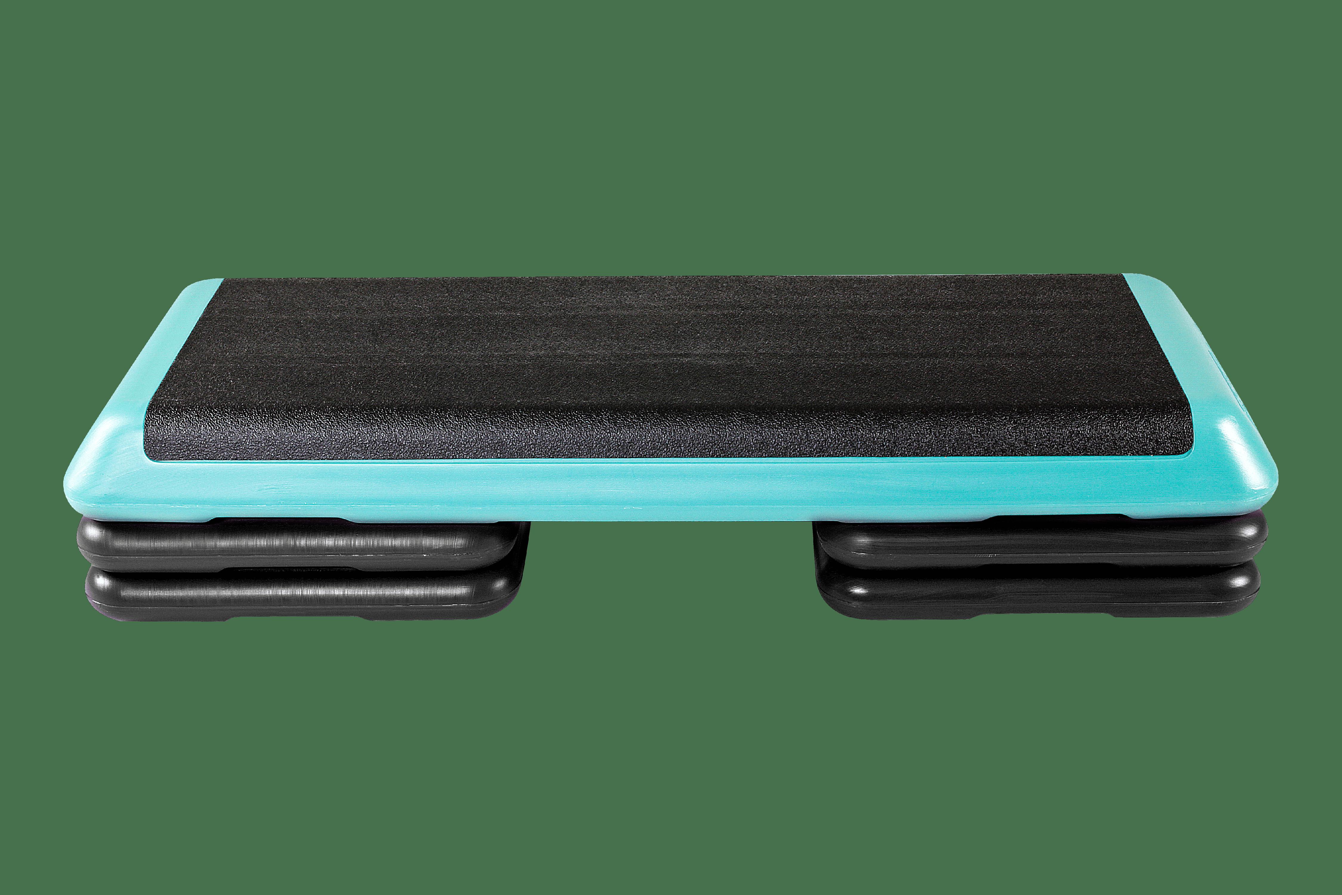 2 Grey STEP RISERS Aerobic Platform Home Fitness Cardio Workout Aerobic Trainer