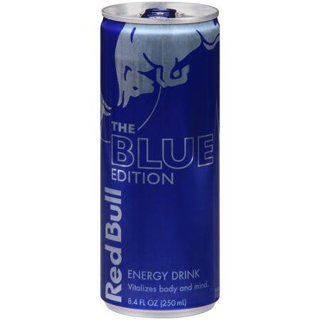Red Bull Blue Edition  Blueberry Energy Drink  8 4 Fl Oz Cans  4 Pack