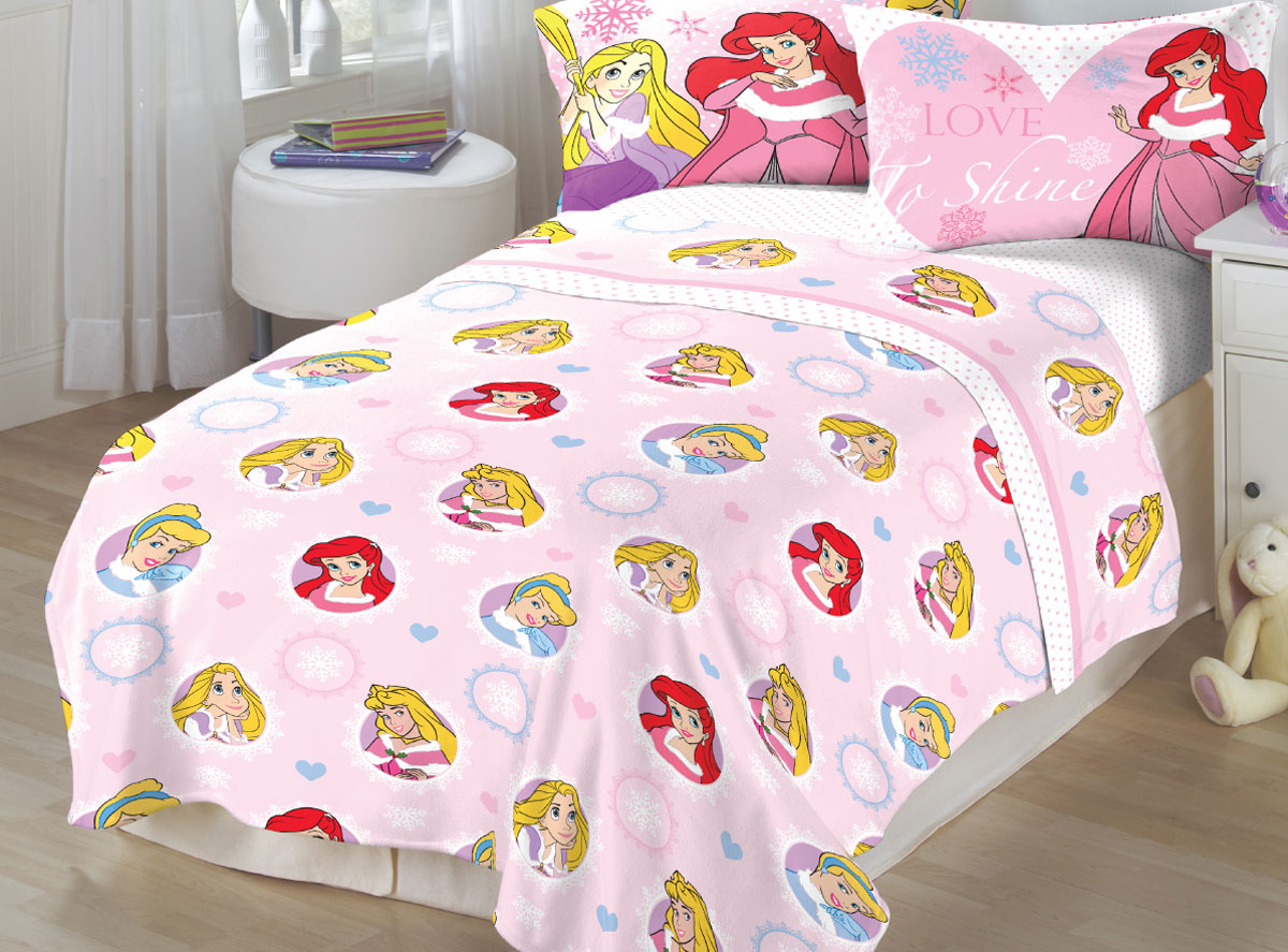Marvelous Franco Manufacturing Company Inc 16429787 Disney Princess Twin Flannel  Sheets Winter Wonders Bedding   Walmart.com
