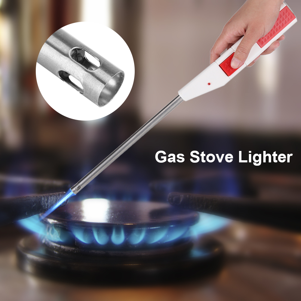 Electric BBQ Stove Lighter Gas Spark Starter Oven Candle Ignitor Long Flame Fire