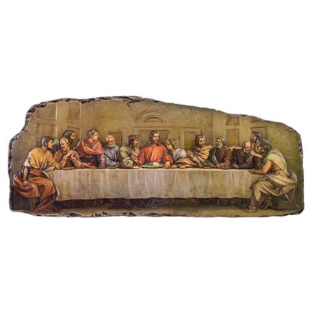 Roman 41437 The Last Supper 18.5 Inch Artistic Resin and Stone Cutout Plaque