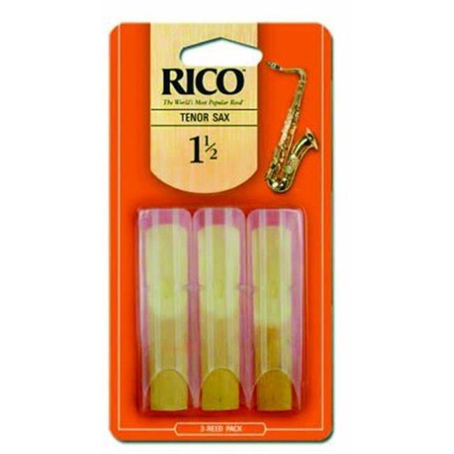 M&M Merchandisers RKA0315 Rico Tenor Sax Reed No. 1. 5 Box of 3 by