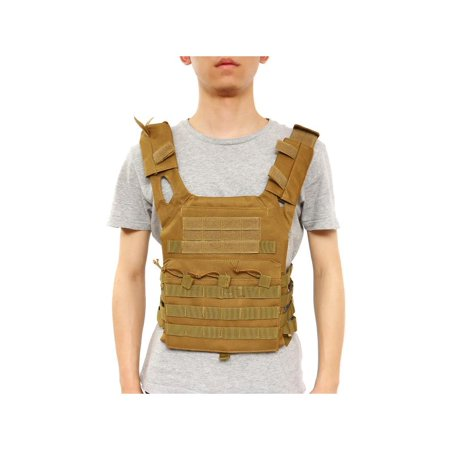 Moaere Tactical Vest Modular Assault Waistcoat Law Enforcement Vest Breathable Combat Training Sleeveless Shirt Adjustable (Best Modern Assault Rifle)