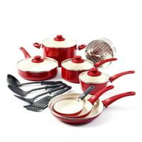 Greenlife Ceramic Non-stick Cookware Set, 14 Piece