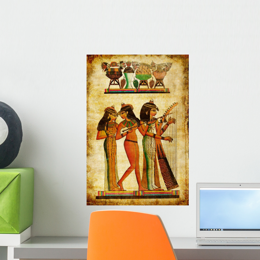Old Egyptian Papyrus Wall Mural by Wallmonkeys Peel and Stick ...