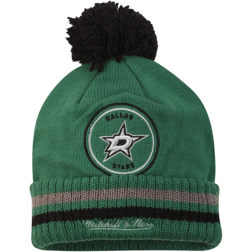 Dallas Stars Mitchell & Ness Big Man Hi Five Cuffed Knit Hat - Kelly Green - OSFA