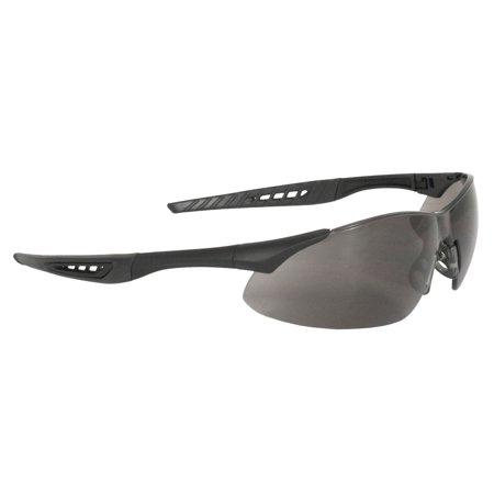 Radians RK1-21 Rock Lightweight Design Black Frame Safety Glasses with Rubber Tipped Temples, Black frame safety glasses features sleek and lightweight design By Radians - Rubber Rock