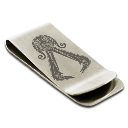 Stainless Steel Assassins Creed Chinese Brotherhood  Qin Dynasty  Insignia Engraved Money Clip Credit Card Holder