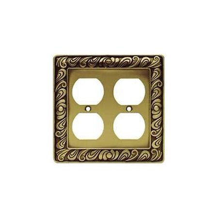Brainerd 64197 Double Duplex Paisley Collection,Tumbled Antique Brass