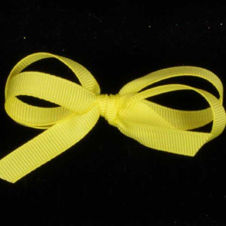"Grosgrain Sunshine Yellow Woven Edged Craft Ribbon 1.5"" x 44 Yards"
