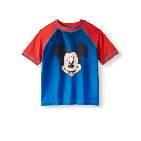 Toddler Boys Bathing Suit (Mickey Mouse Rash Guard Swim Top (Toddler Boys))