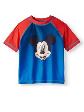 Mickey Mouse Toddler Boy Rashguard Swim Shirt