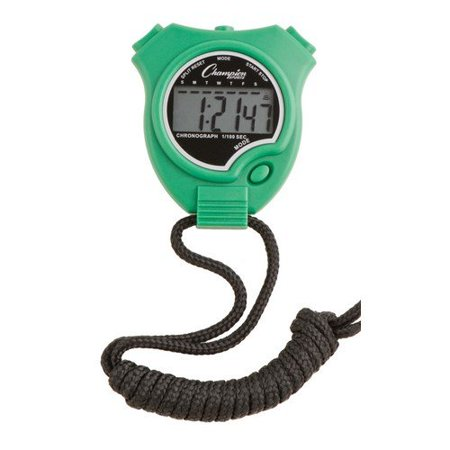 Stopwatch Color: Green (910GN), Features 1/100 of a second precision By Champion Sports