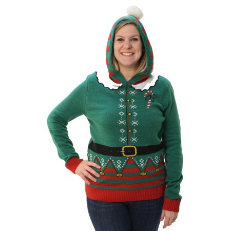 Plus Size Ugly Christmas Sweater.Ugly Christmas Sweater Plus Size Women S Elf Hooded Pullover Sweatshirt