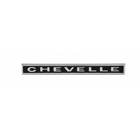 Eckler's Premier  Products 50-203568 Chevelle Rear Panel Emblem, Chevelle, Chevelle Rear Panel Emblem
