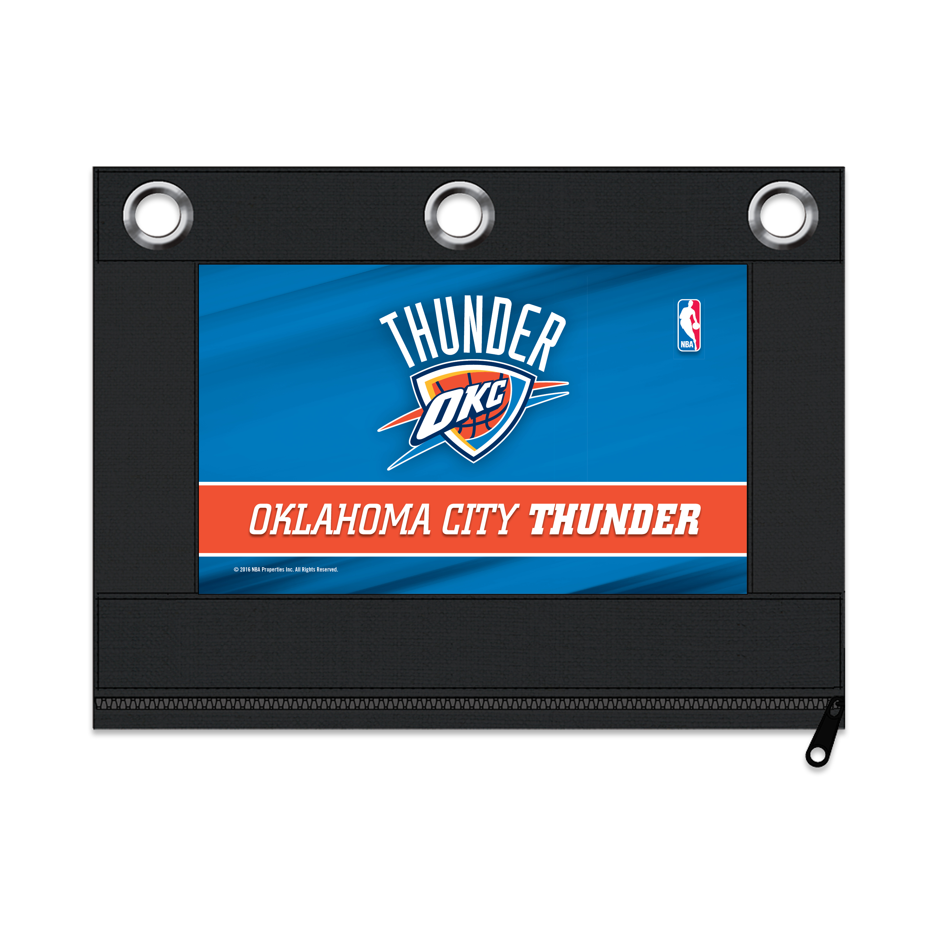 NBA Oklahoma City Thunder Zippered Pencil Pouch with Grommets