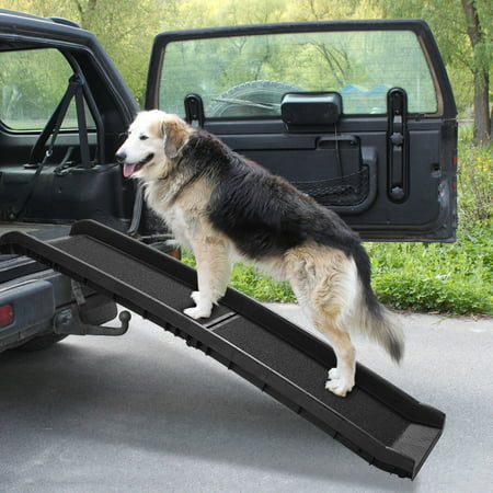 Jaxpety Folding Portable Dog Non-Slip Ramp for Vehicle, 62