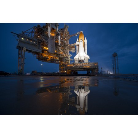 NASA Space Shuttle Spacecraft Poster on Launch Pad Poster Classroom Office Home Decor Size 24x36 Image Spaceship Banner Wall Decoration Houston Program Starship