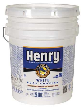 HENRY HE280DCGR073 Protective Roof Coating, 4.75 Gal.,White