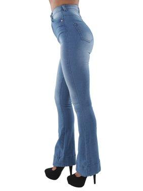 d77dad6a843 Product Image Women's Juniors Bell Bottom High Waist Bootcut Flared Jeans  Bootleg