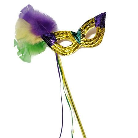 Mardi Gras Handheld Mask - Mardi Gra Mask