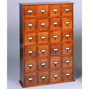 "Leslie Dame 40"" 24-Drawer CD Media Storage Cabinet in Walnut"