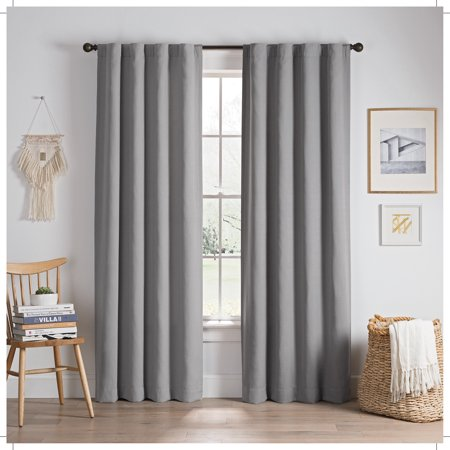 Eclipse Edisto Solid Thermalayer Blackout Window Curtain Panel ()