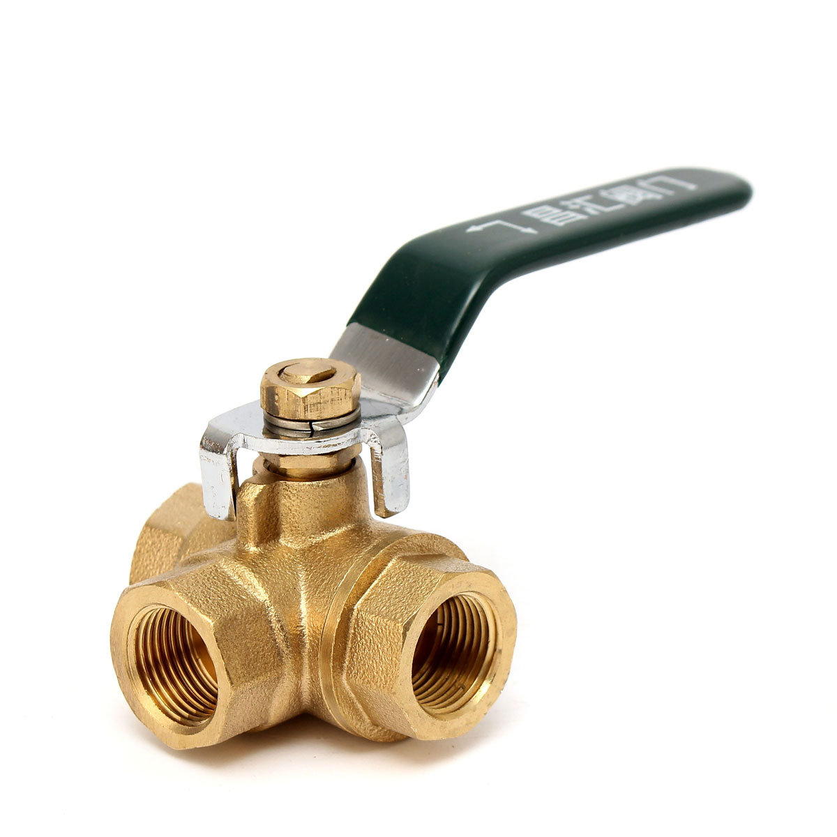 3/8''Brass Ball Valve Fixed 3 Way Full L Port Thread Connector