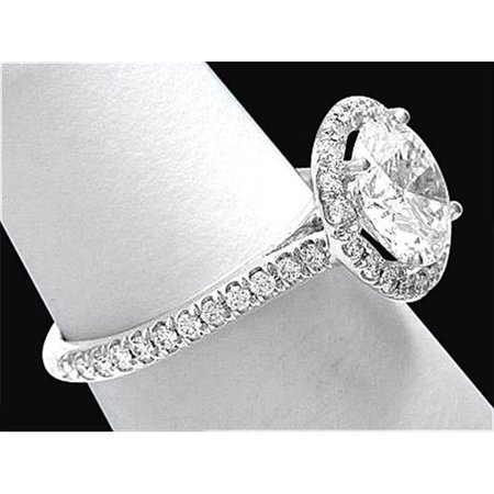 Harry Chad Enterprises 2202 3 CT F VS1 Halo Diamond Ring White Gold 18K Wedding Ring - image 1 of 1