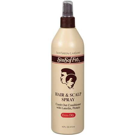 SoftSheen-Carson Sta-Sof-Fro Hair & Scalp Spray Comb Out Conditioner with