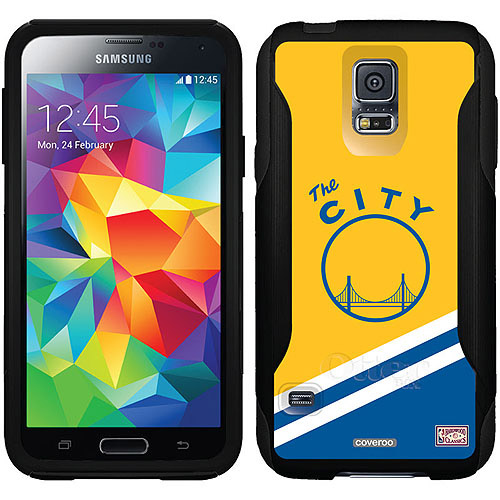 San Francisco Warriors Hardwood Classic Design on OtterBox Commuter Series Case for Samsung Galaxy S5