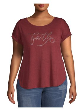 b39d0f1b2e36 Product Image Women's Plus Size Short Sleeve Graphic Tee - Faith