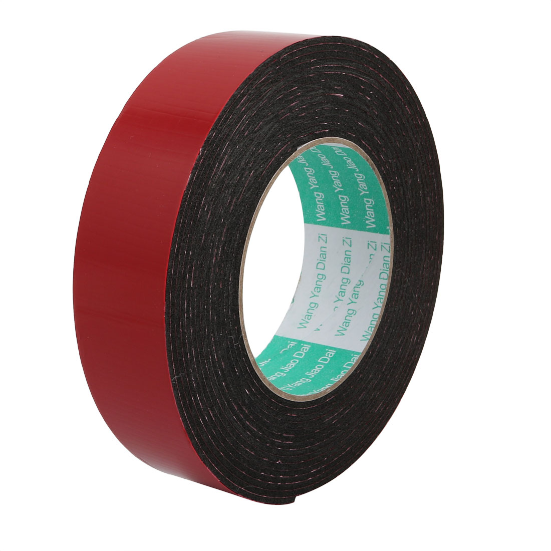 Unique Bargains 35mm Width 2mm Thickness Double-side Sealed Sponge Tape Black 16.4ft Length