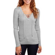 Heart and Women's Lace Up Sweater